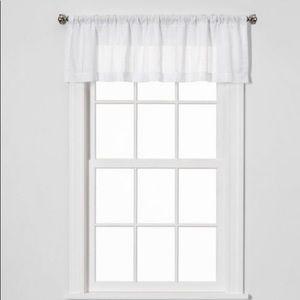 "15""x54"" Leno Window Valance White - Threshold™"